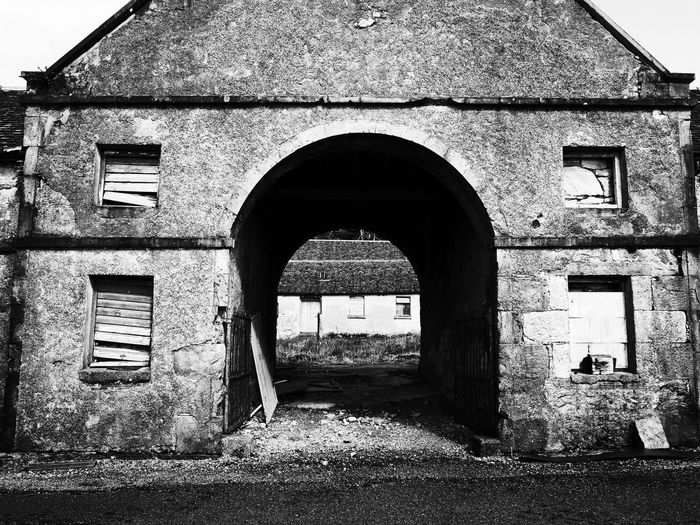 Wonderful old ruin Scotland Monochrome Blackandwhite Old Buildings Ruins of Victorian Stables on the Isle of Raasay. Currently up for sale ! Ricoh GR with in camera edit.