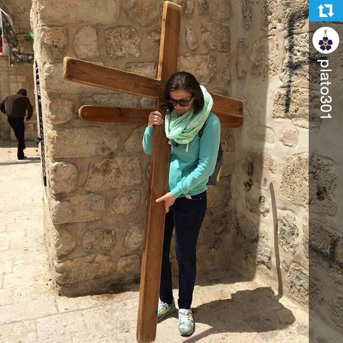 Repost @plato301 ・・・ ViaDolorosa Jerusalem Holyland cross 2015