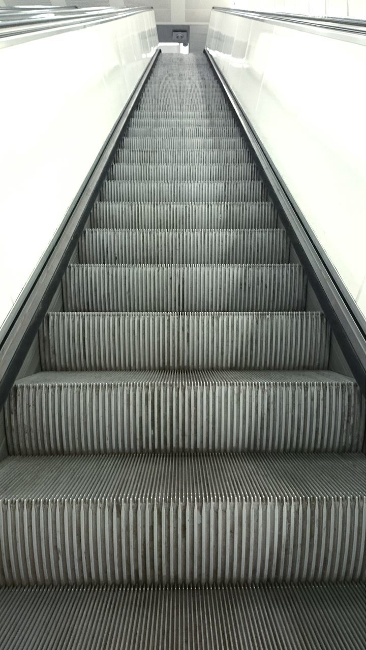 Front View Of Escalator