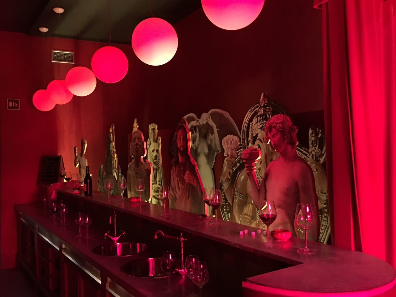 illuminated, lighting equipment, indoors, night, celebration, men, real people, women, large group of people, people