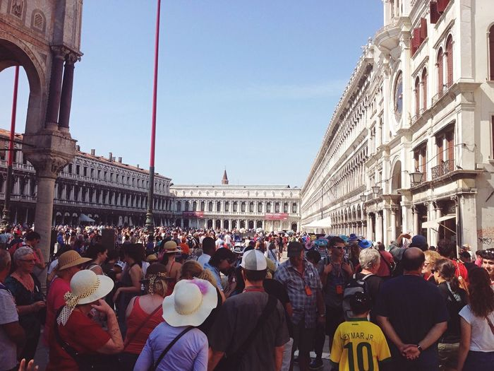 Large Group Of People City Crowd Tourism Travel Destinations Famous Place Venice, Italy People Faces Diversity