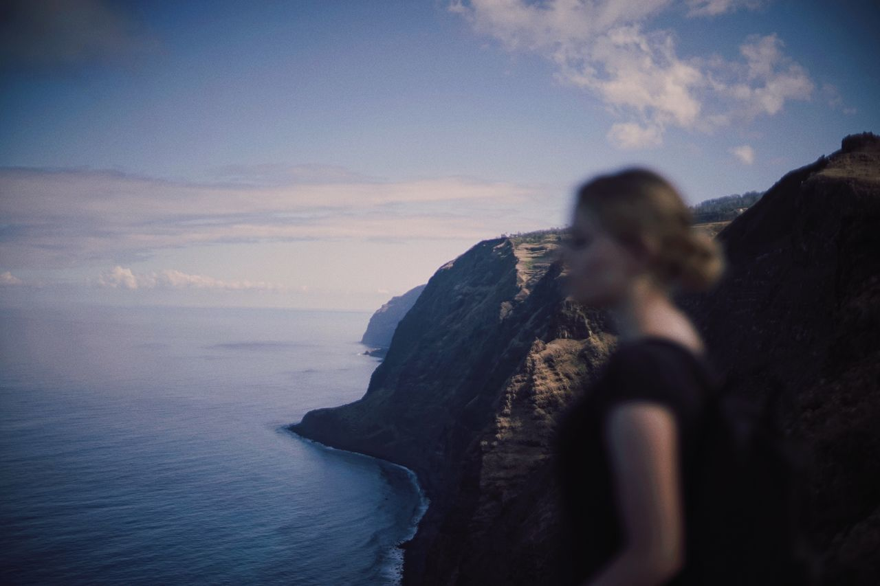 A Band-Aid for my damaged soul, I paint the planet gold. TakeoverContrast Vacations Cloudy Solitude Valley Tourist Beauty In Nature Madeira Cloud Portugal Landscapes Adventure The Week Of Eyeem Outdoors Majestic Tranquil Scene Nature Person Silhouette Coastline Rocks Girl Woman Blonde Traveling