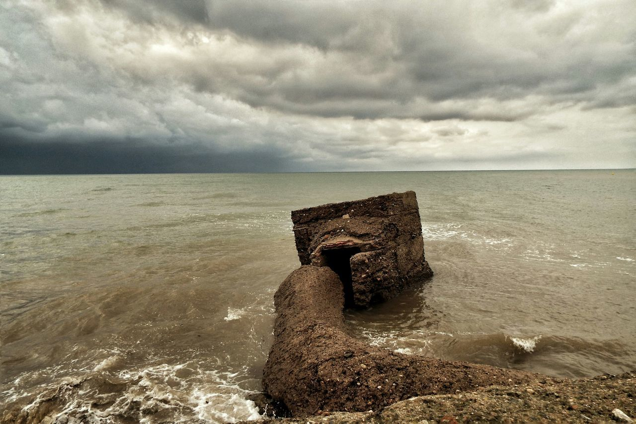 Old fortification on the beach