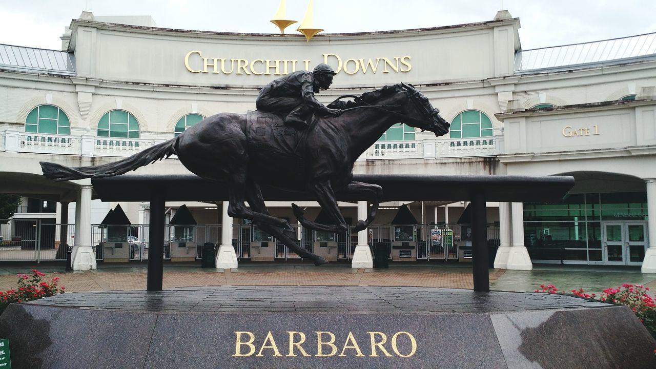 Horse Churchill Downs Barbaro Kentucky  Kentucky Derby Statue Horse Statue Barbaro Statue Rest In Peave In Memory