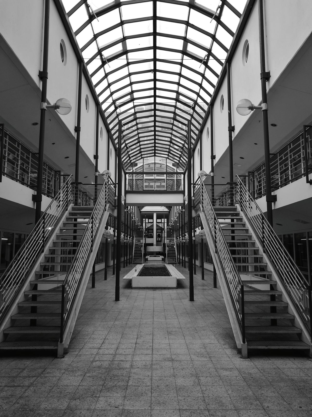 Lost Blackandwhite Stairs Windows Kadewe Parkhaus Shopping Charlottenburg  Berlin Charlottenburg  Light From Above HuaweiP9 Monochrome