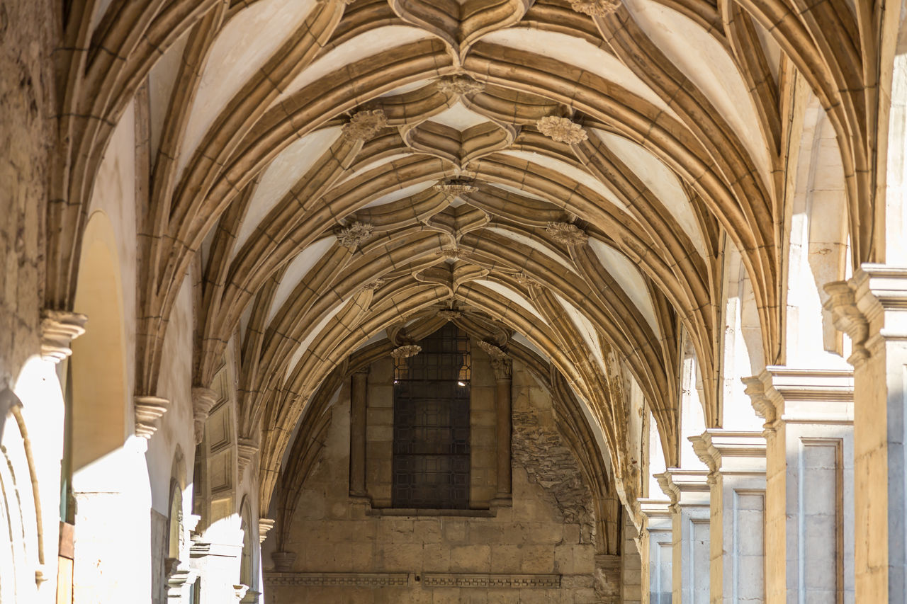 Arch Architecture Cloister Day Gothic Style Indoors  No People Place Of Worship