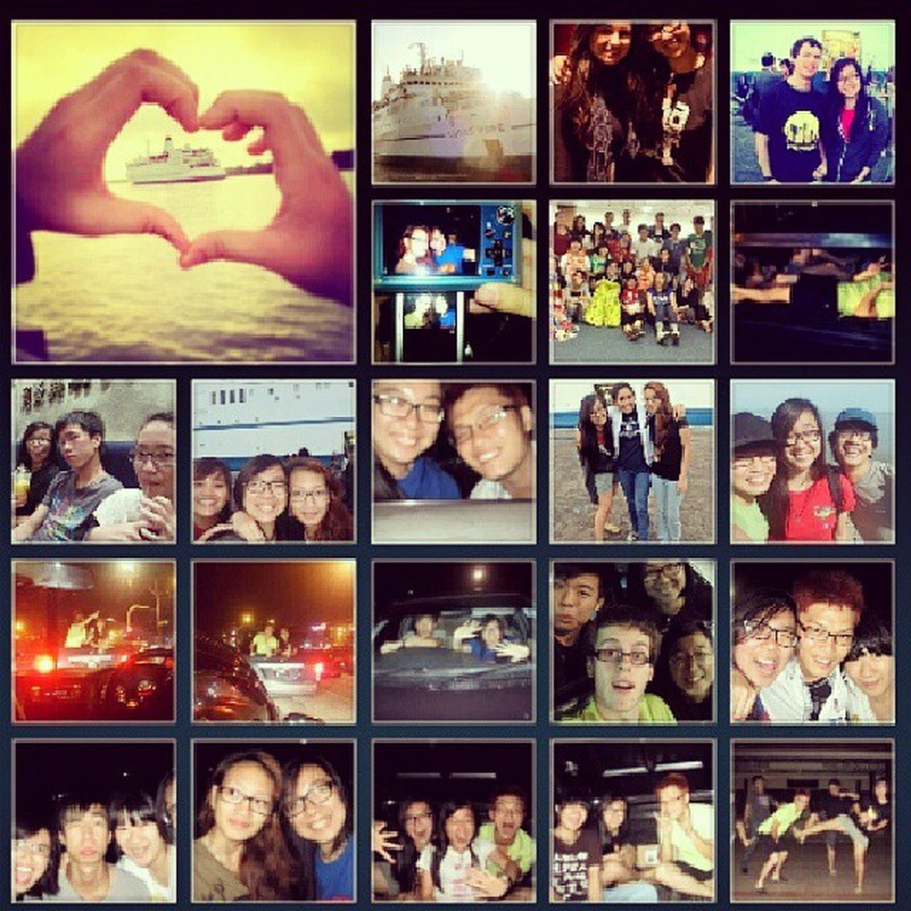 Every time I feel sad, I'd look at all these photos and feel happy again because of all the stupid fun things we did together from dancing in the middle of the road and friendship park, riding illegally at the back of Melissa's awesome pick up driven by Enoch, nearly drowning in a pool, the time we were scolded for racing at the wharf and all the fun times we had eating together. I really really miss these Crazy Fun times ALOT. If I had a time machine, I'd travel back there to do them all over again :) Happinessoverload Someonegetmeatimemachineplease awesomeness noregrets crazyfunpeopleyay