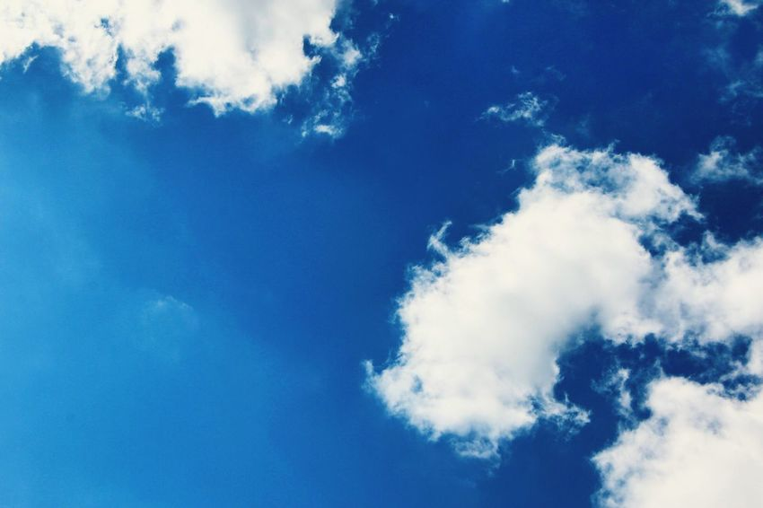 Sky Low Angle View Blue Nature Cloud - Sky Beauty In Nature Tranquility Outdoors No People Scenics Day Backgrounds Contrail Long Goodbye