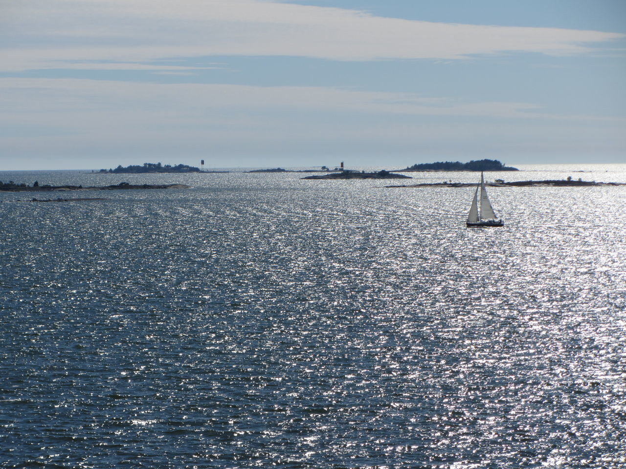Islands in the Gulf Of Finland Suomenlinna Helsinki Finland Sea Sea And Sky Sailing Boat Sail Colour Of Life Sunshine Summer Relaxing Horizon