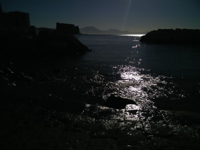 Sea Water Silhouette Night No People Beach Travel Destinations Outdoors Nature Beauty In Nature Landscape Sunset Scenics Sky Horizon Over Water Wave Astrology Sign Napoli Colonna Spezzata Lungomarenapoli EyeEm Selects Make A Wish