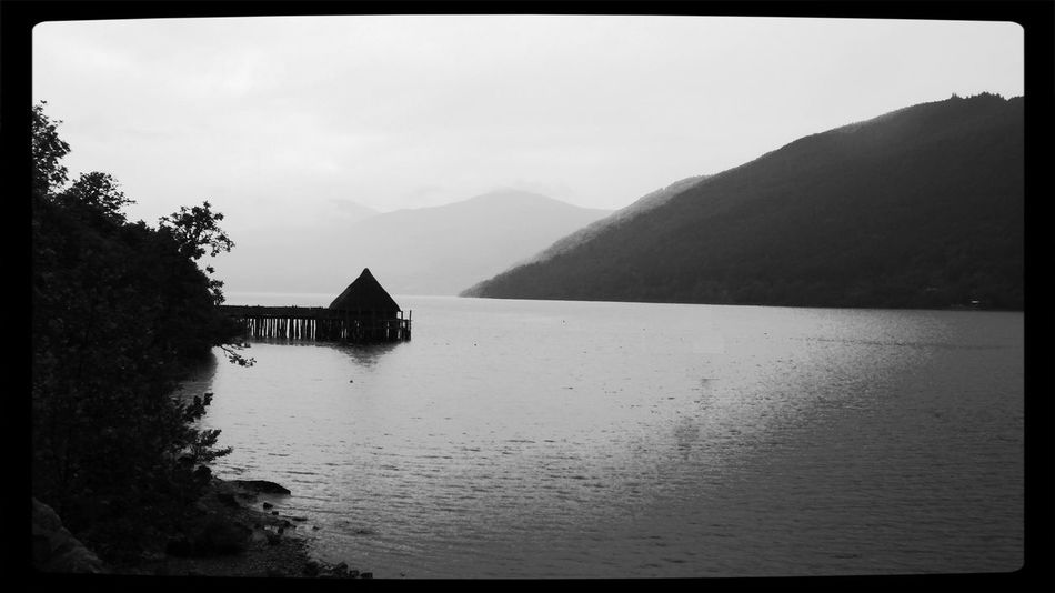 Crannog centre at Loch Tay, Aberfeldy in Scotland. A very old form of living! Atmospheric Mood Crannog Landscape Light Loch Tay Outdoors Scotland Silhouette Tranquil Scene Mystical Serenity Stillness In Time