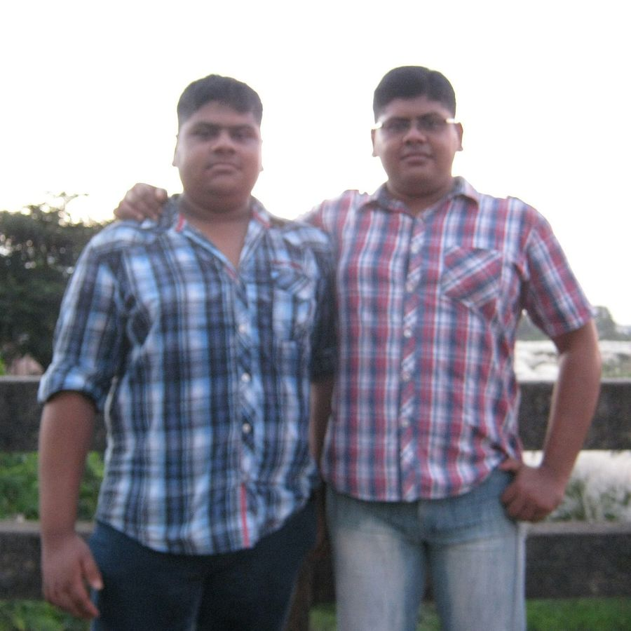 me and brother