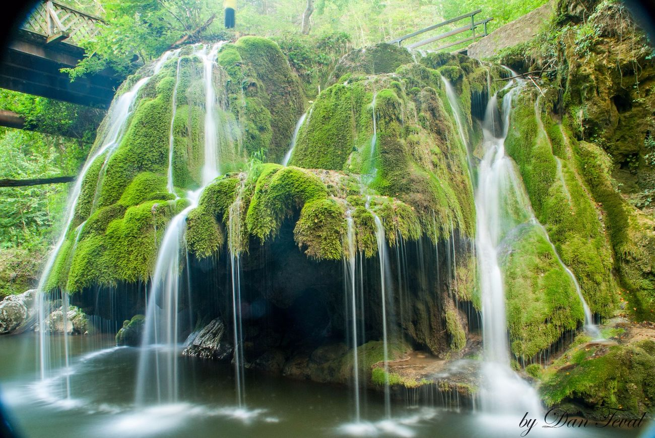 Dramatic Angles Bigar Bigar Waterfall Bigar Falls Waterfall Water Long Exposure Flowing Water Flowing Nature Natural Landmark Moss Idyllic Majestic Green Beauty In Nature Romania capturing motion My Year My View