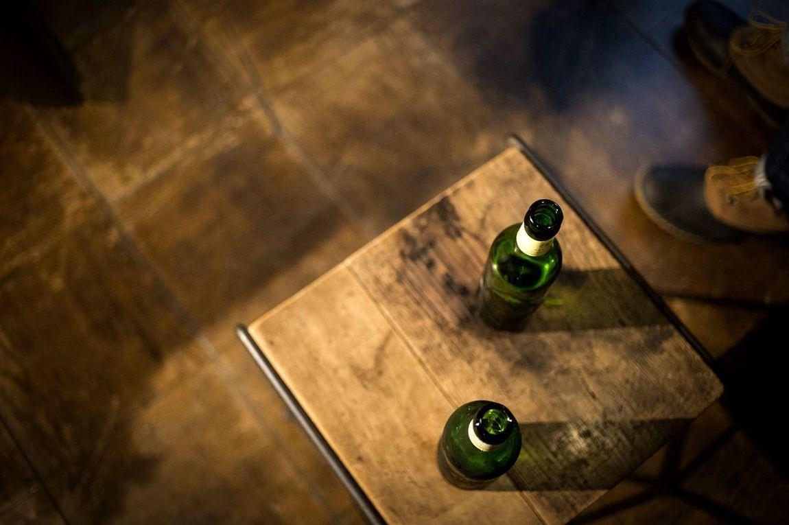 Beer Wooden Floor Bottle