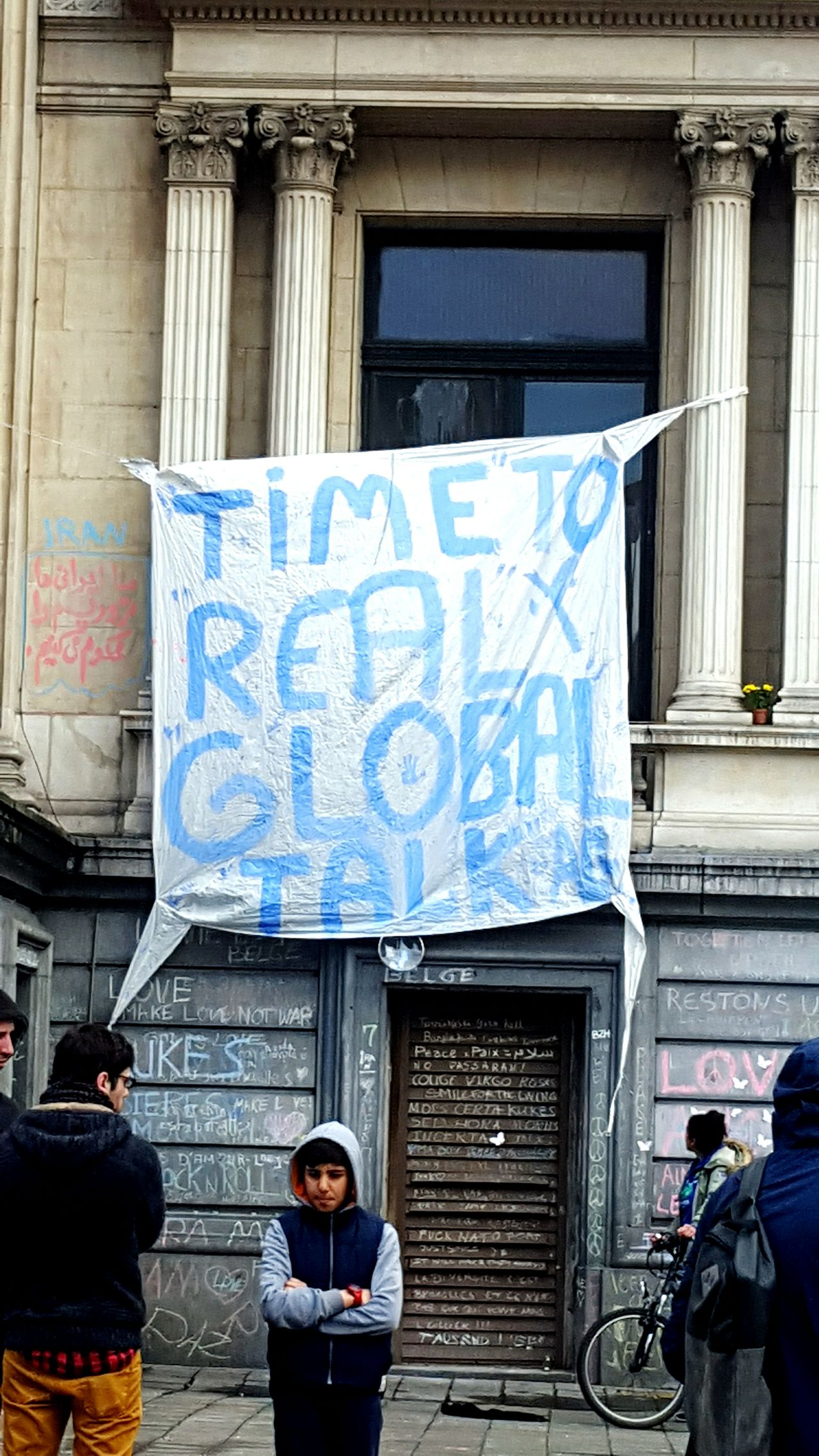 """Time to real global talk"" Victims Terrorism People Capture The Moment Check This Out Photography Building Brussels Snapshot Streetphotography Street Voiceofthepeople Peace"