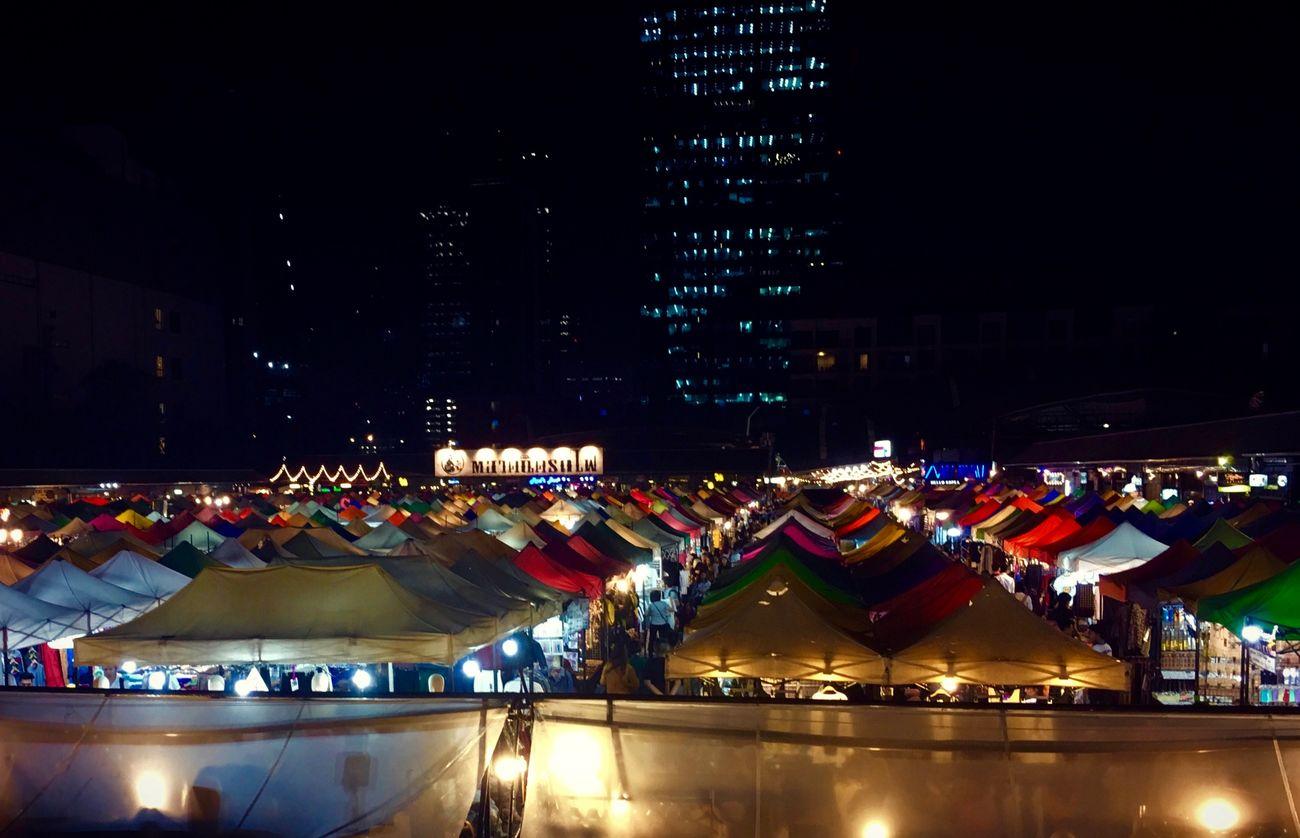 Rot Fai Market Ratchada Bangkok Bangkok Thailand. Illuminated Night Night Market Night Market In Thailand Talad Rod Fai Tent Thailand Thailand Photos Thailand_allshots Thailandtravel