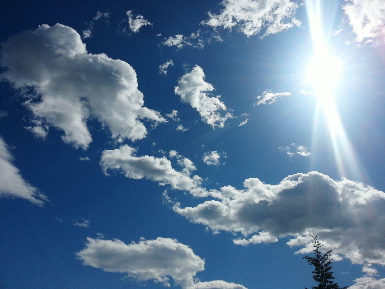 Sky Sun Photography By My Cam Sky And Sun Sun ☀ Clouds Blue Sky
