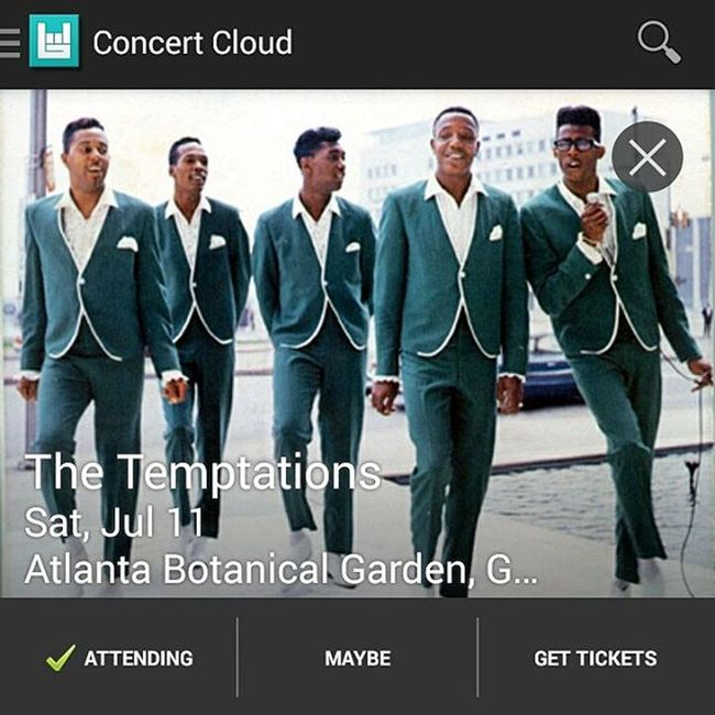 My weekend plans. TheTemptations Botanicalgardens Atlanta Georgia ATL