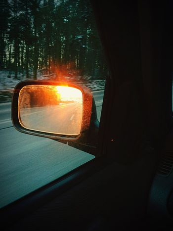 Car Transportation Land Vehicle Vehicle Interior Car Interior Road No People Close-up Side-view Mirror Vehicle Mirror Outdoors Day