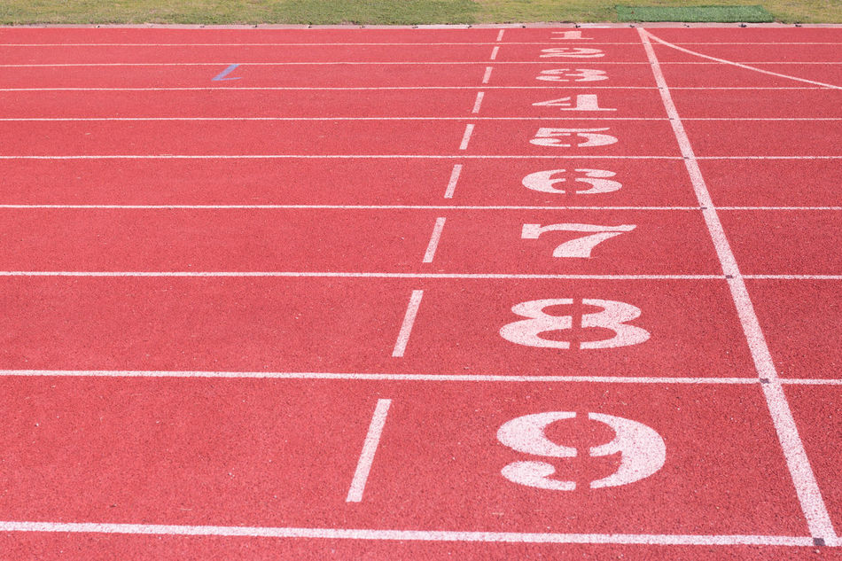 Competition Day Finish Line  Hopscotch No People Number Outdoors Running Track Sport Sports Race Sports Track Starting Line Track And Field Track And Field Event