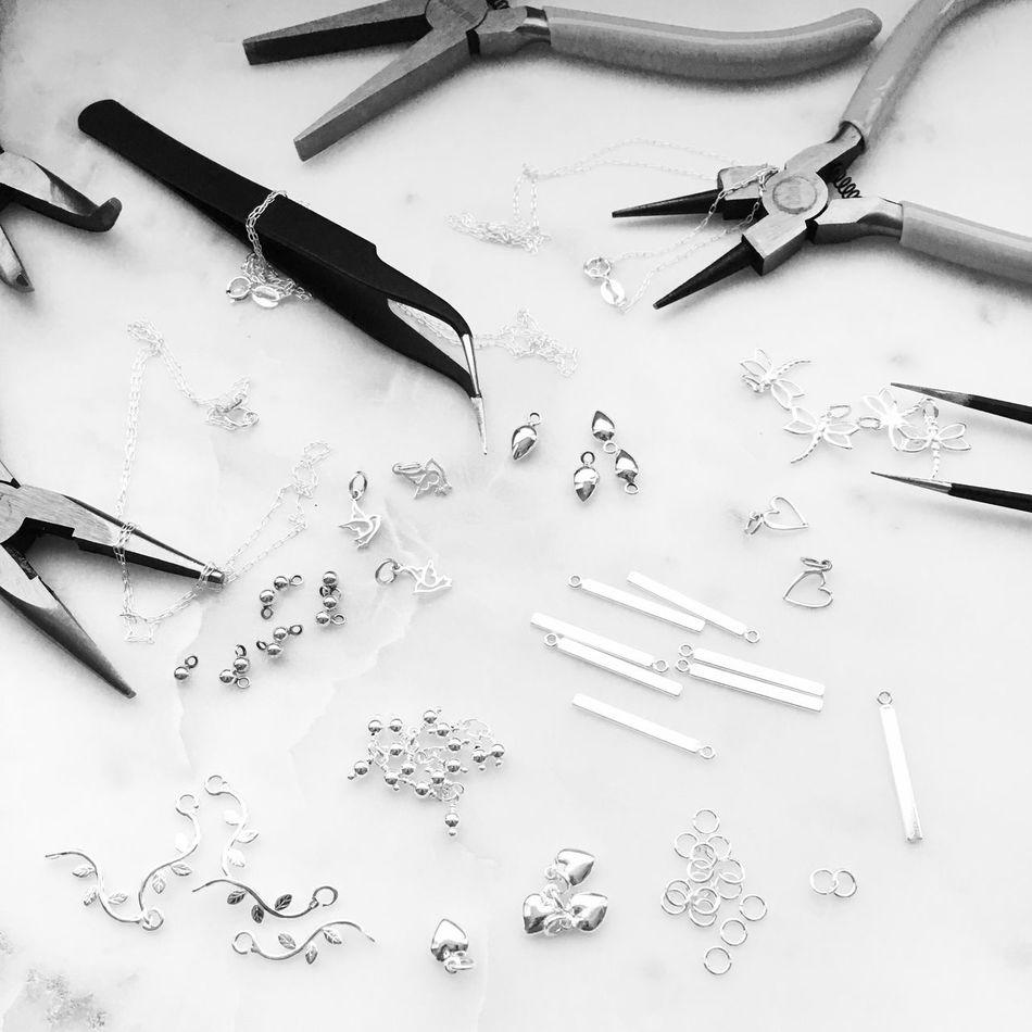 No text just black and white picture! www.essentialmetalz.com Jewelry Jewelrymaking Creativity Design
