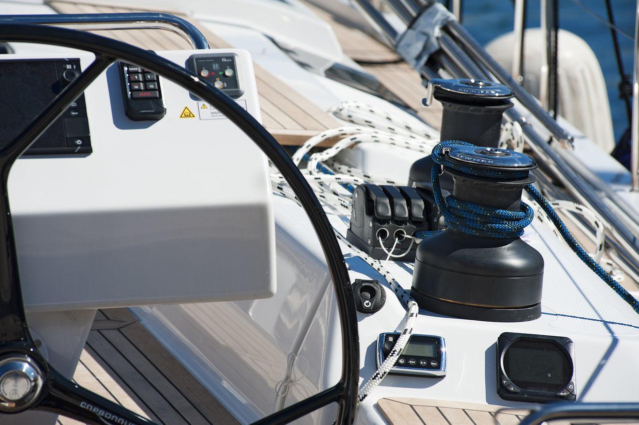 Boat Day Land Vehicle Metal No People Reflection Ropes Rudder Sailing Sailing Boat Sailing Ship Stationary Technology Transportation Travel Winch