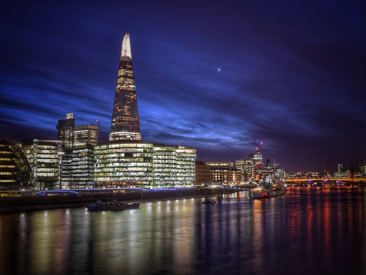 London Skyline by evening. Clouds And Sky London Architecture London Skyline London Evening Sky Night Lights Architecture The Shard City Cityscape City Of London Long Exposure River River Thames River Thames Skyline River Thames At Night The Shard By Night Night Night Sky Reflections Reflections In The Water Glass