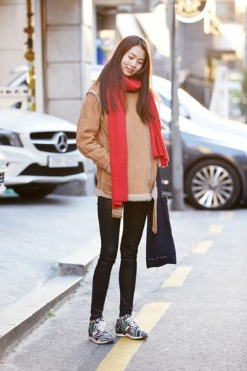 Street fashion Um Yejin Kplus Model Korean Today's Hot Look