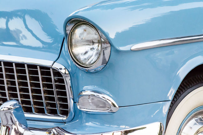 Car Chrome Classic Car Collector´s Car Colour Image Design Detail Headlight Horizontal Land Vehicle Mode Of Transport No People Old Car Old Fashioned Outdoors Pastel Colors Reflection Retro Styled Shiny Transportation Travel Vehicle Hood Vintage Vintage Car Vintage Cars