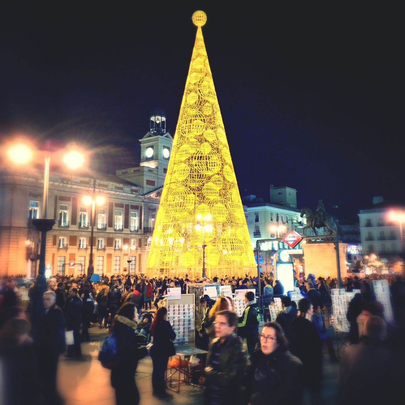 Puerta del Sol Christmas Madness Nexus6 Madrid SPAIN Christmas
