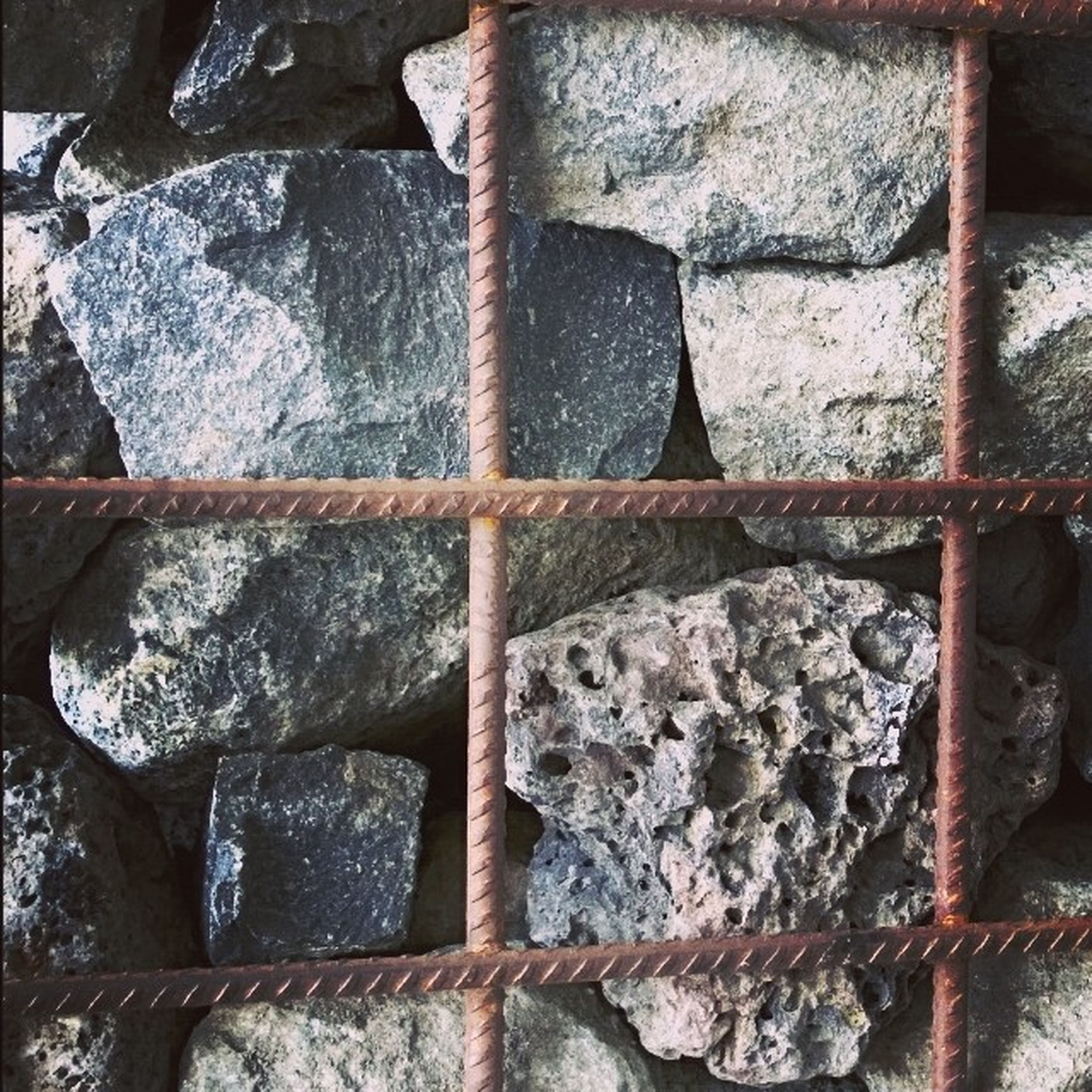 full frame, backgrounds, textured, close-up, metal, pattern, stone wall, no people, old, indoors, rough, weathered, damaged, detail, day, wall - building feature, brick wall, rock - object, stone