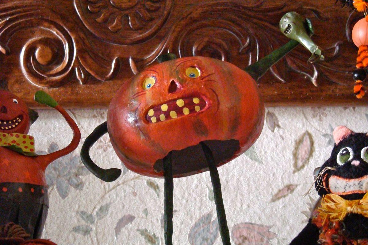 Angry Pumpkin Art And Craft ArtWork Close-up Creativity EyeEmNewHere Holiday Decor Hollidays Holloween Indoors  No People Pumpkin