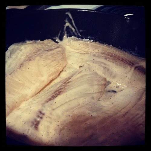 Something smells fishy. Tilapia Fish Dinner Chefjohn Whatimadefordinner Lemon Garlic Somanyhashtags Food Yum Castiron Stove Marinade Wegmans Seafood Healthy Meal Cooking Clapsaddle Culinary House