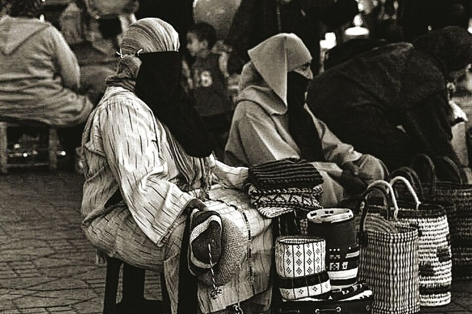 Real People People Black And White Morroco Marrakech Tourism Women
