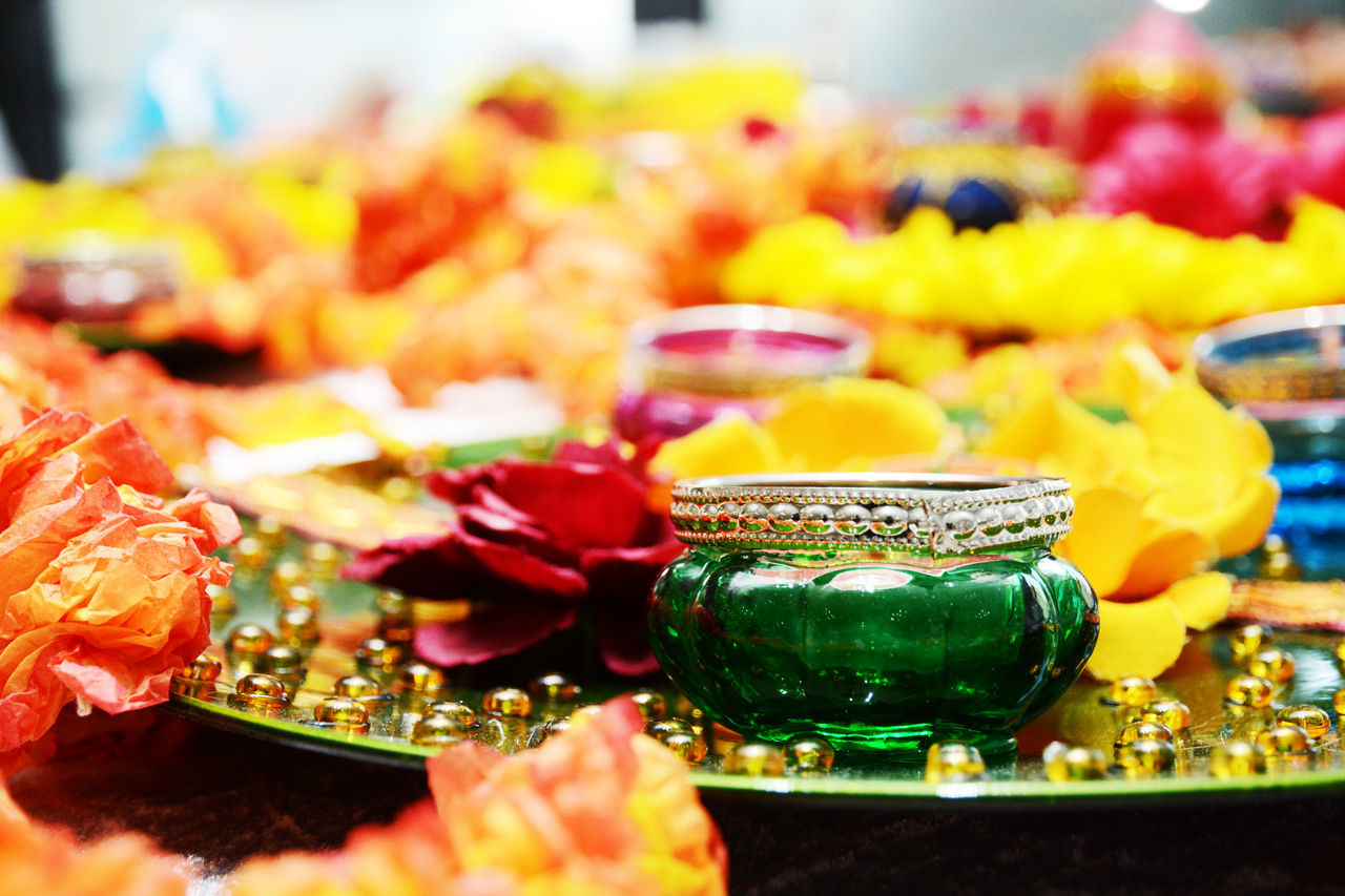 Candle Candles Celebration Close-up Green Green Color Indian Culture  Indian Wedding Indoors  Mehndi Mehndi Night Sangeet Tradition Wedding Decor Wedding Decoration Wedding Photography