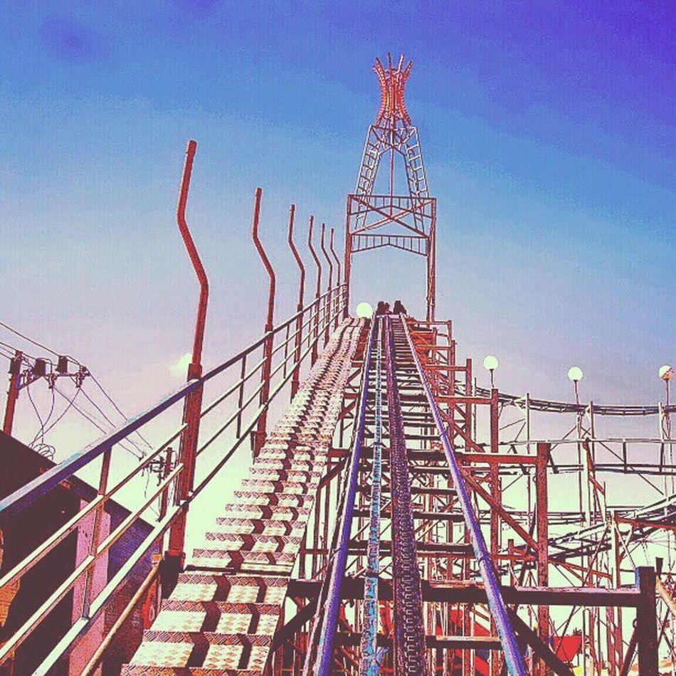 Rollercoaster Montanharussa Moc Park fotografia ilustração
