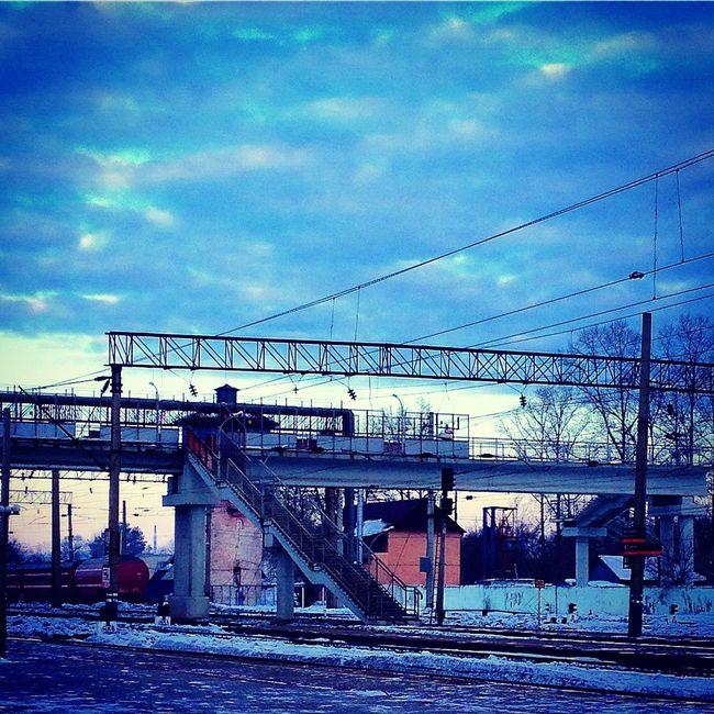 Birobidzhan Winter Viaduct Railroad Railway Rzd биробиджан зима Железная дорога РЖД