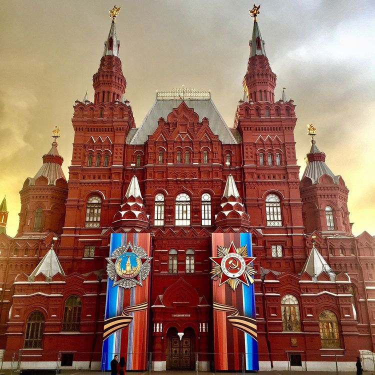 Architecture Built Structure Sky Travel Destinations Low Angle View No People Façade History Outdoors City Day Historical Museum Moscow State Historical Museum 9 May 2017 Victory Day Russia The Photojournalist - 2017 EyeEm Awards