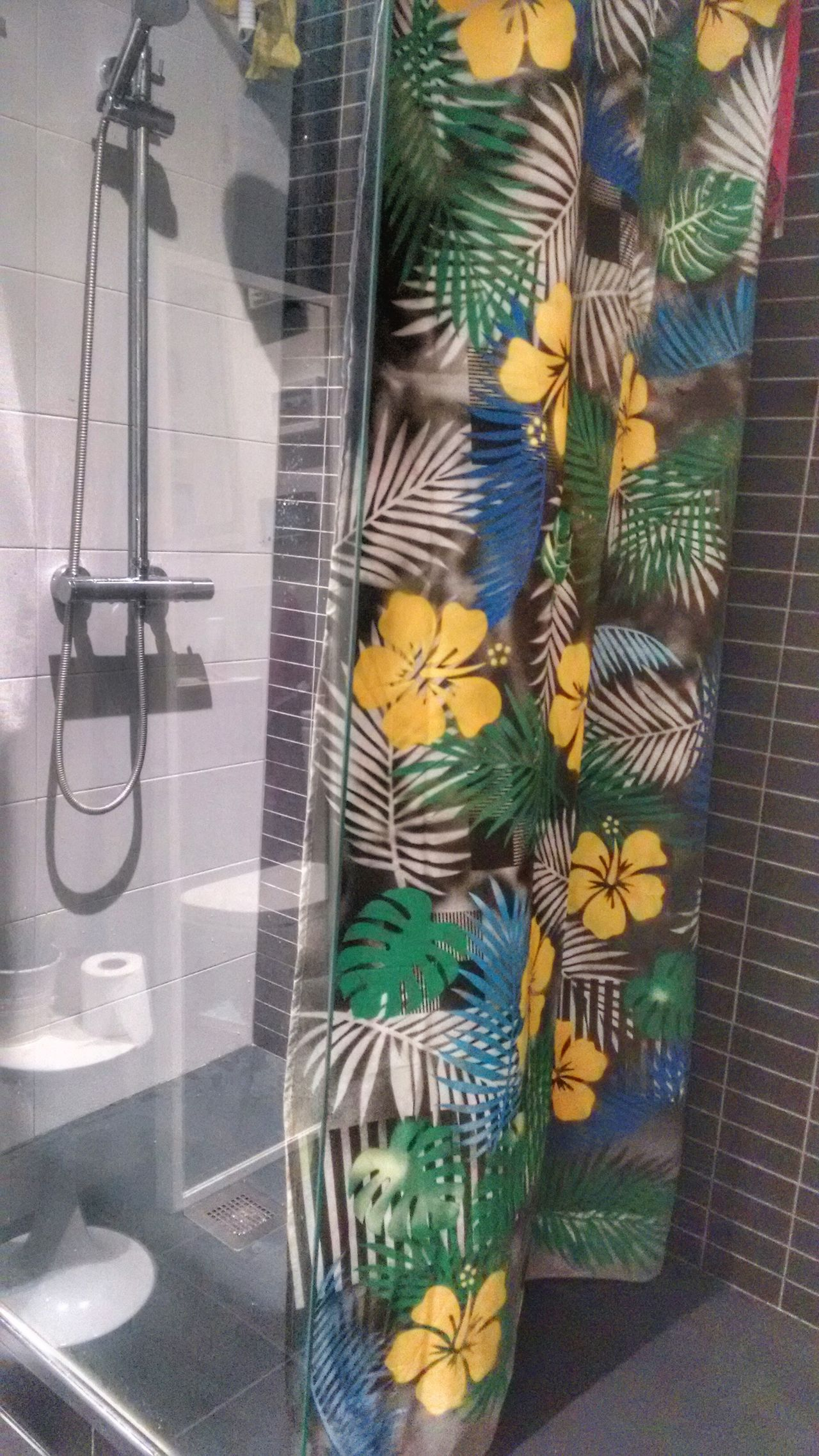 Tropical shower curtain Shower Bathroom Curtain Fresh Tropical Plants Decoration Design Home Home Style