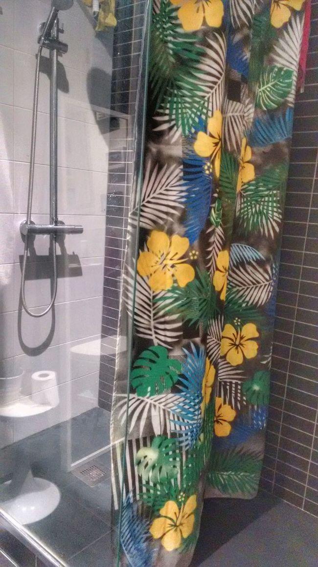 Tropical shower curtain Shower Bathroom Curtain Fresh Tropical Plants Decoration Design Home Home Style