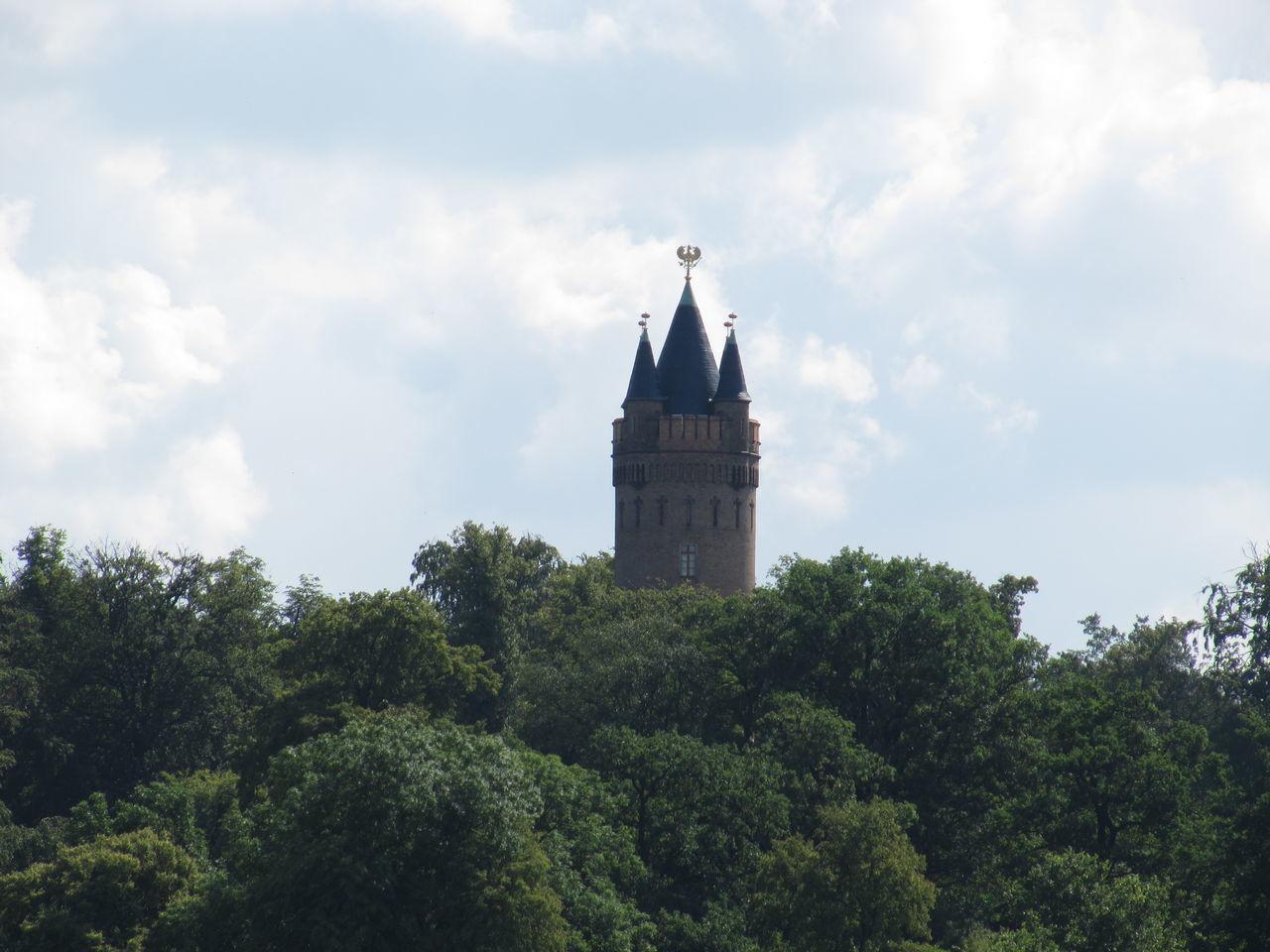 Babelsberg Cloudy Flatowturm Park Potsdam