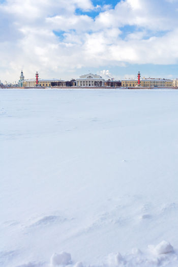 View of the Spit of Vasilevsky Island and the ice-covered Neva river from the Peter and Paul Fortress Cloud - Sky Day Ice Covered  March Neva River Scenics Sky Snow Covered Vasilevsky Island Vasilevsky Island Spit Vasilievsky Ostrov Waterfront Copy Space The Architect - 2016 EyeEm Awards