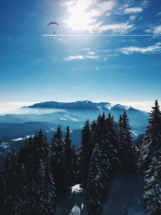 Snow Sky Cold Temperature Scenics Winter Nature Beauty In Nature Tree Cloud Tranquil Scene Mountain Tranquility Outdoors No People Mountain Range Day Cloud - Sky Landscape Romania Brasov