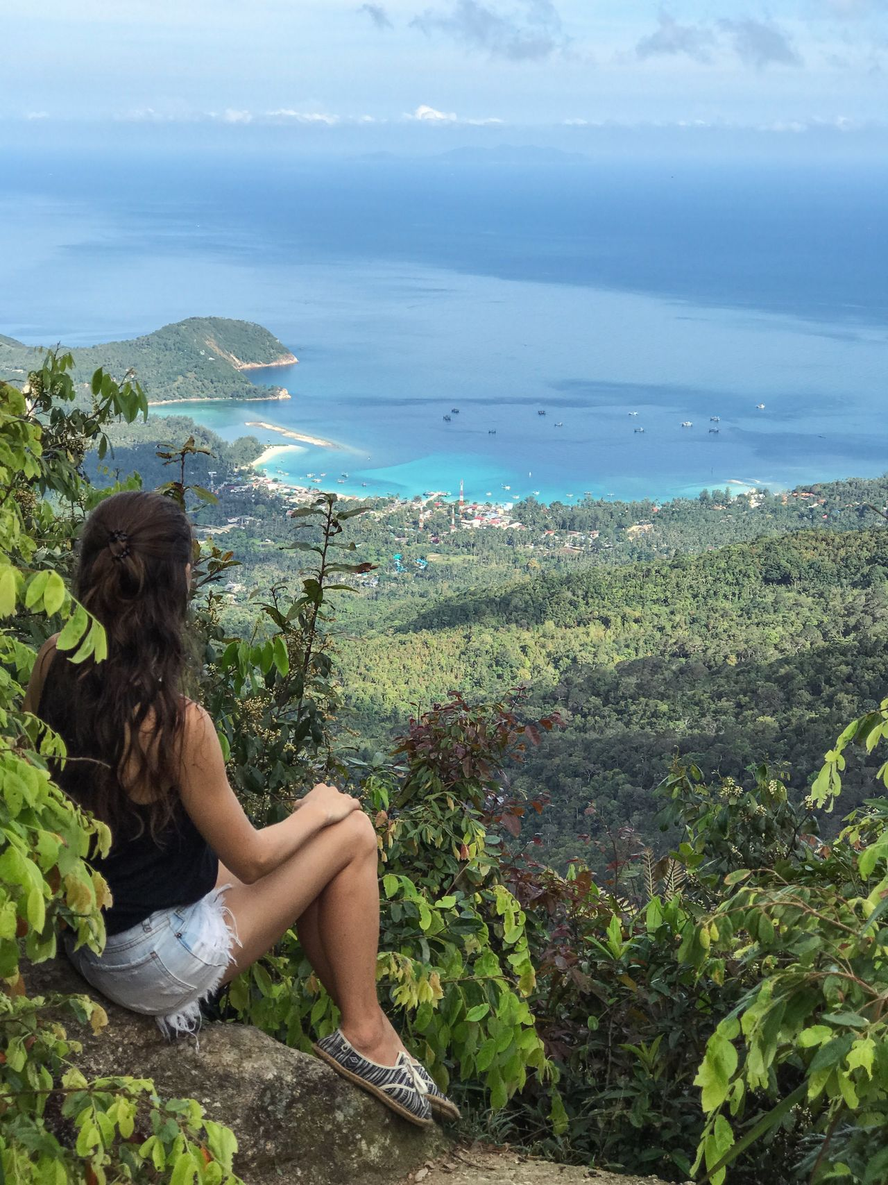 Adult Adults Only Beauty Beauty In Nature Full Length Idyllic Landscape Nature One Person One Woman Only One Young Woman Only Only Women Outdoors People Relaxation Scenics Sea Sitting Summer Tourism Tourist Travel Vacations Women Young Adult