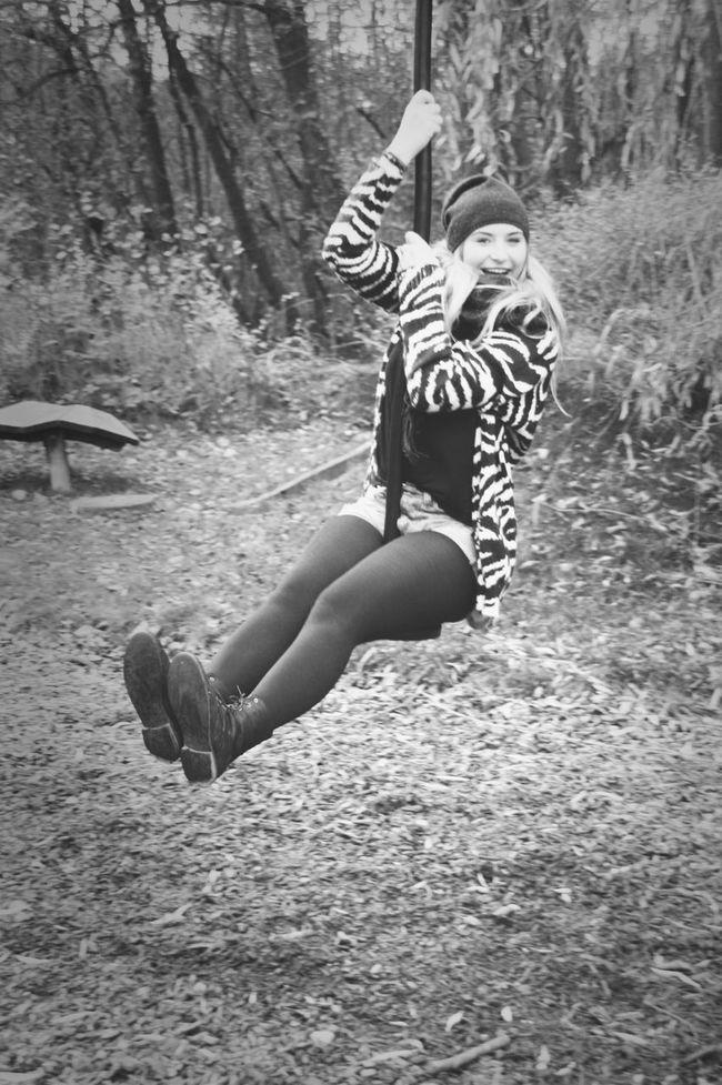 Blackandwhite Playground Selfshot