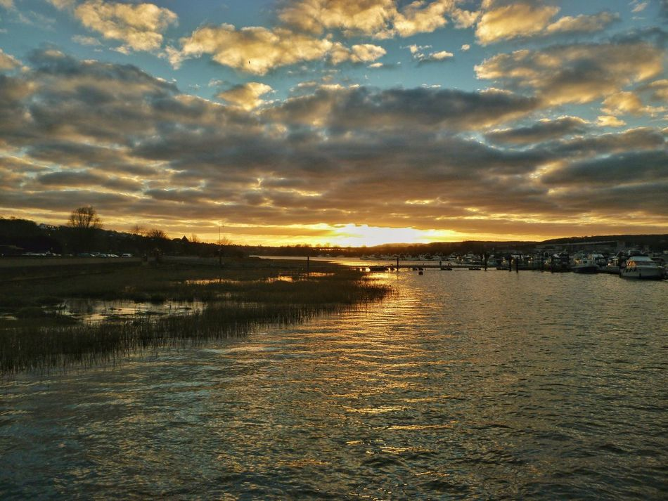 The river Medway at Rochester. Sunset Reflection Water Sky Cloud - Sky Nature Beauty In Nature Outdoors Scenics Landscape Tranquility River Nature Medway Medway River Rochester