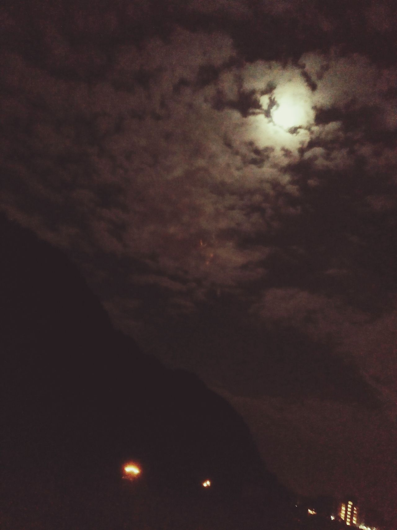 Moon Sky Night Scenics No People Beauty In Nature Nature Outdoors Moon Dark Picture Taken By Oppof1 Camera Picture Taken On The Way Enjoying The View Traveling Photography Awesome_view Natural Phenomenon Moon Behind Cloudes
