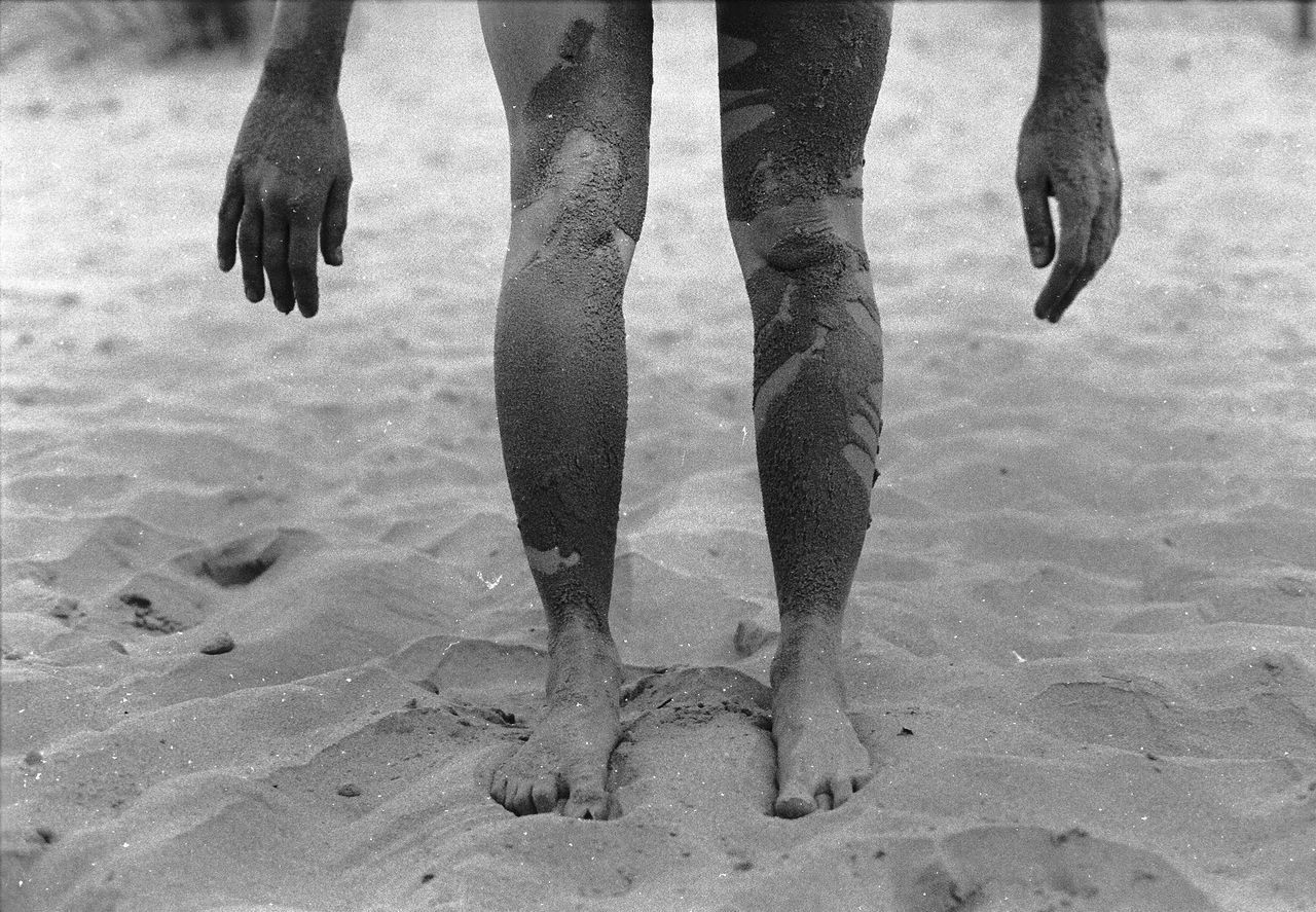 The Island Analog Analogue Photography Baltic Baltic Sea Barefoot Beach Blackandwhite Day Human Body Part Human Leg Lifestyles Low Section Mammal Men Nature One Person Outdoors People People Photography Real People Sand She Standing Water Womanity