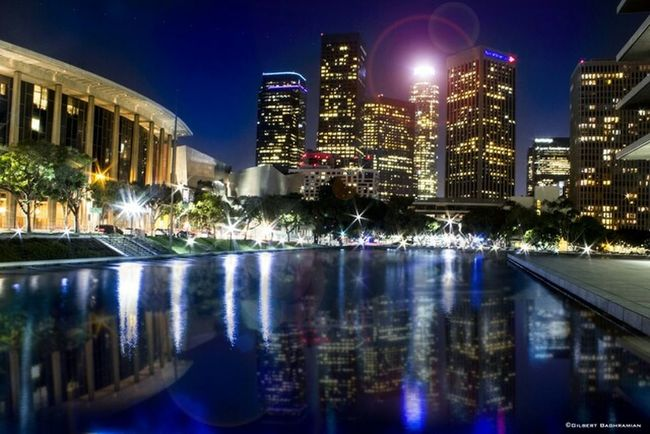 Cityscapes Downtown Los Angeles. NIGHT CITY