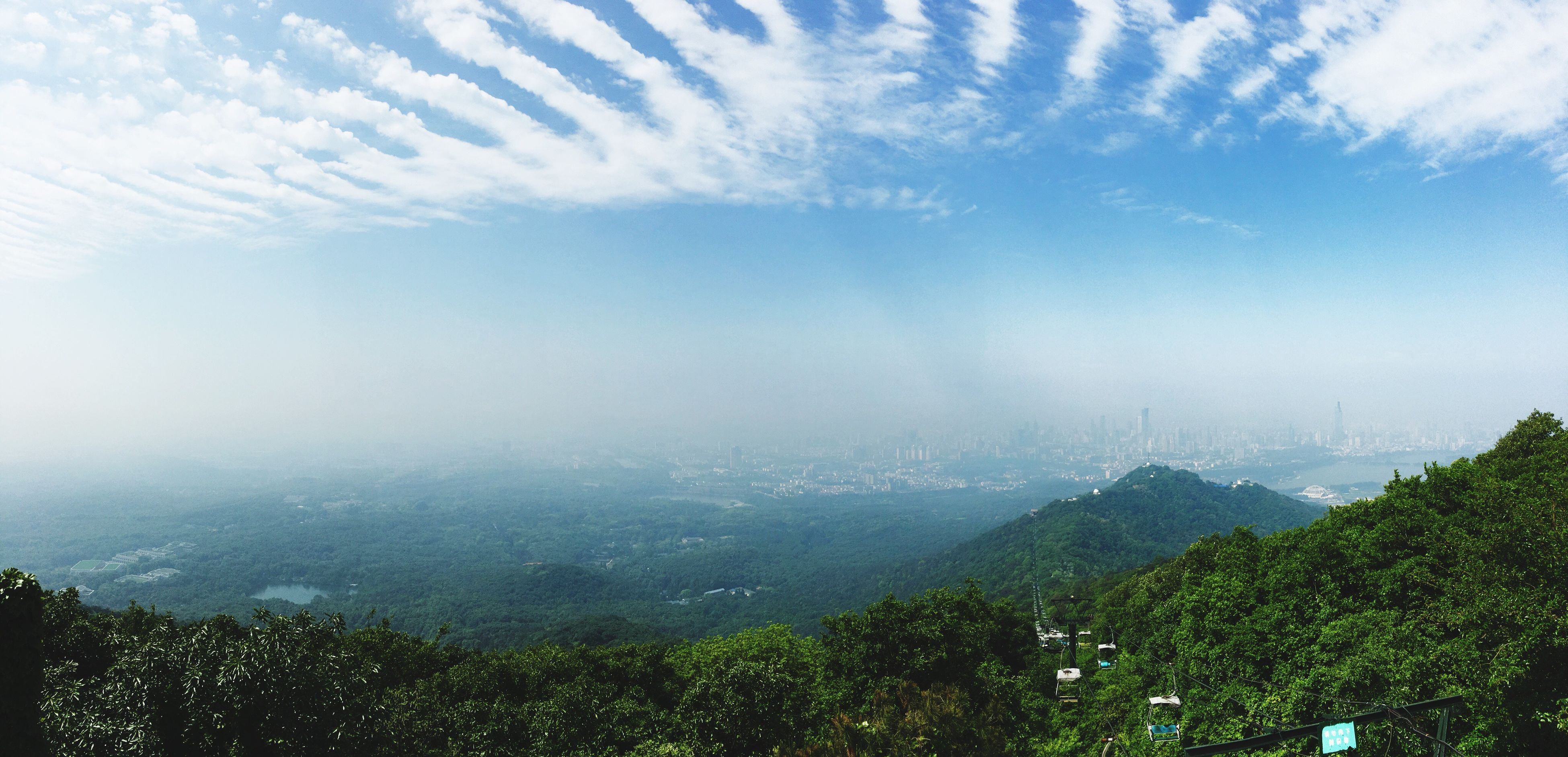 mountain, scenics, tranquil scene, beauty in nature, tranquility, landscape, sky, tree, nature, mountain range, cloud - sky, idyllic, weather, non-urban scene, day, fog, outdoors, remote, no people, cloudy